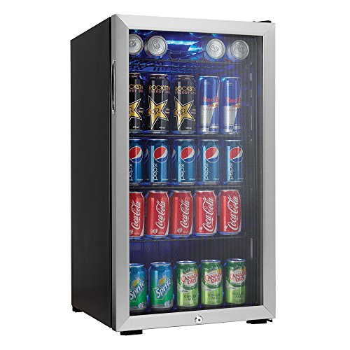 Danby 120 Can Beverage Center, Stainless Steel DBC120BLS image