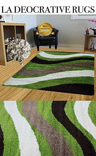 lime-green-tan-dark-brown-white-super-soft-simple-lines-abstract-modern-design-thick-long-pile-desig