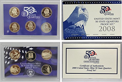 2008 S Clad Proof National Park Quarter Set Gem Uncirculated