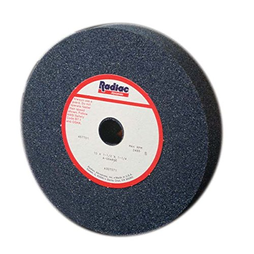 Radiac Abrasive RAD-A090638 Straight Bench Grinding Wheel 7 Inch x 1 Inch x 1 1/4 Inch, 3 by Radiac Abrasive
