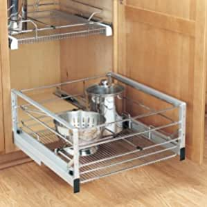 Chrome Pull Out Wire Baskets Bedroom Kitchen Cupboards 400mm 500mm /& 600mm