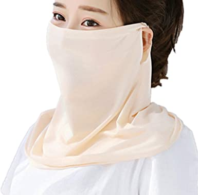 Summer Face Cover UV Protection Face Scarf Mask Ice Silk Fabric Cool Lightweight Neck Gaiter