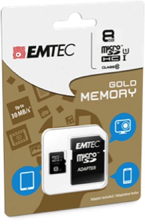 Amazon.com: Emtec 8 GB Clase 10 Mini Jumbo Extra MicroSDHC ...