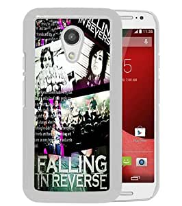 Customized falling in reverse White Special Custom Made Motorola Moto G 2nd Generation Cover Case