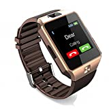 Amazingforless Bluetooth Touch Screen Smart Wrist Watch Phone with Camera - Rose Gold