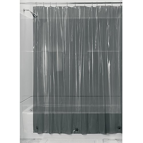 InterDesign Vinyl 4.8 Gauge Shower Curtain Liner - Long 72