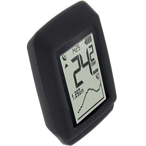 c0089fb23 foto-kontor Funda para Sigma Pure GPS Protectora Silicona Carcasa  protección Negra