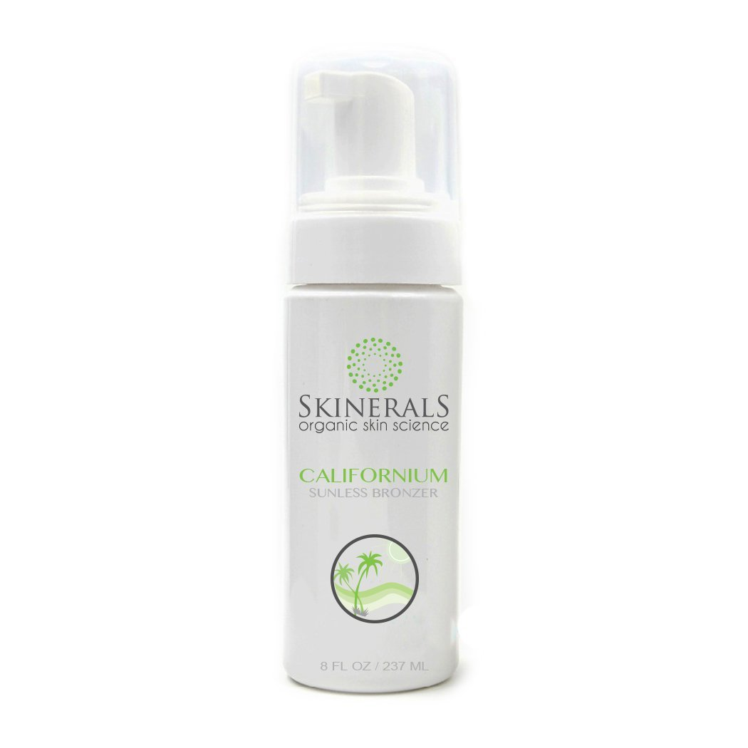 Skinerals Californium Sunless Bronzer Organic Self Tanner For Safe Alternative to Sun Tanning