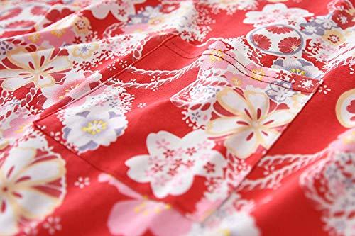 Interior Pijamas 4 Suelta Las Ropa Impresos Moda Cómoda Bastante Cuello De Rojo Elegante Manga Mujeres 3 Redondo Camisón Oqwfz5Z