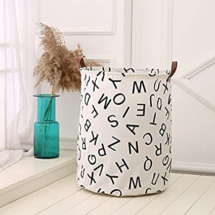 Gentil Storage Bins, Canvas Storage Bags/ Baskets Nursery Toy Storage/ Toy  Organizers Laundry Baskets