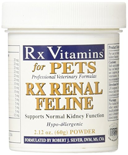 Rx Vitamins Renal Feline Powder for Cats - Supports Normal Kidney Function - Hypoallergenic Veterinary Formula - 2.12 oz Powder