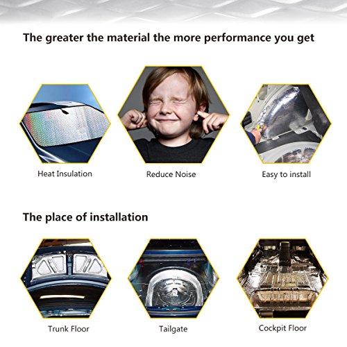 Partsam 50 mil 50 sqft Car Sound Deadening Mat,Self-Adhesive Sound Deadener,Thickness Sound Dampening Material,Audio Noise Insulation and Dampening,Butyl Automotive Deadener Restoration Mat,47pcs by Partsam (Image #2)