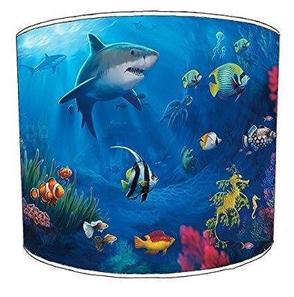 Ameublement et décoration Premier Lampshades 20,3cm Table Shark Abat-Jour imprimé 4 Abats-Jour 30,5cm