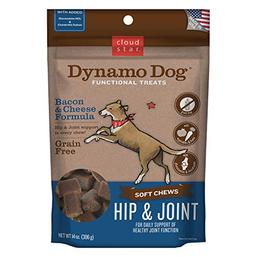Cloud Star Dynamo Dog Functional Soft Chews: Hip & Joint - Bacon & Cheese - 14 oz. ()
