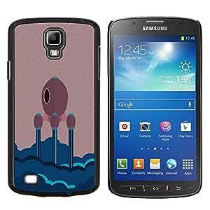 "Be-Star Único Patrón Plástico Duro Fundas Cover Cubre Hard Case Cover Para Samsung i9295 Galaxy S4 Active / i537 (NOT S4) ( Minimalista Nave Espacial"" )"