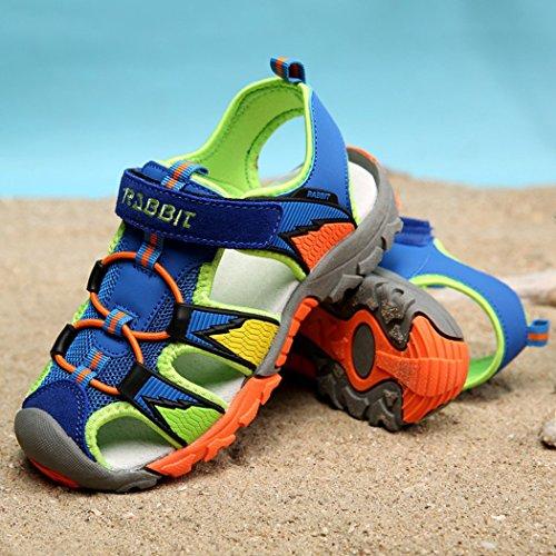 Dayiss Jungen Geschlossene Sandalen Outdoor Sportschuhe Trekking-&Wanderschuhe Sommerschuhe Blau