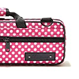Beaumont Pink Polka Dot C-Foot Flute Box Case
