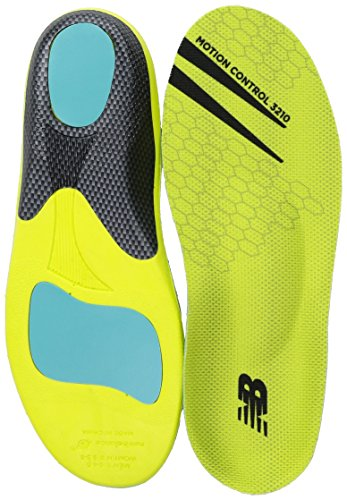 New Balance Insoles 3210 Motion Control Insole Shoe, neon green, 11.5-12 W US Women / 10-10.5 M US Men