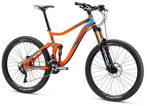 Cheap Mongoose Men's Teocali Expert Bike with 27.5″ Wheel, Orange, 20″ Frame/Large