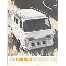 1963 Ford Van & Pickup Camper Motorhome RV Brochure
