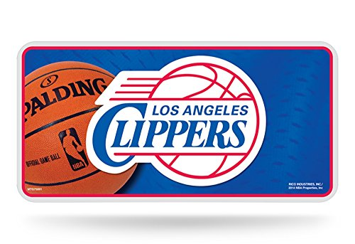 [NBA Los Angeles Clippers Metal Auto Tag] (Rico Los Angeles Clippers)