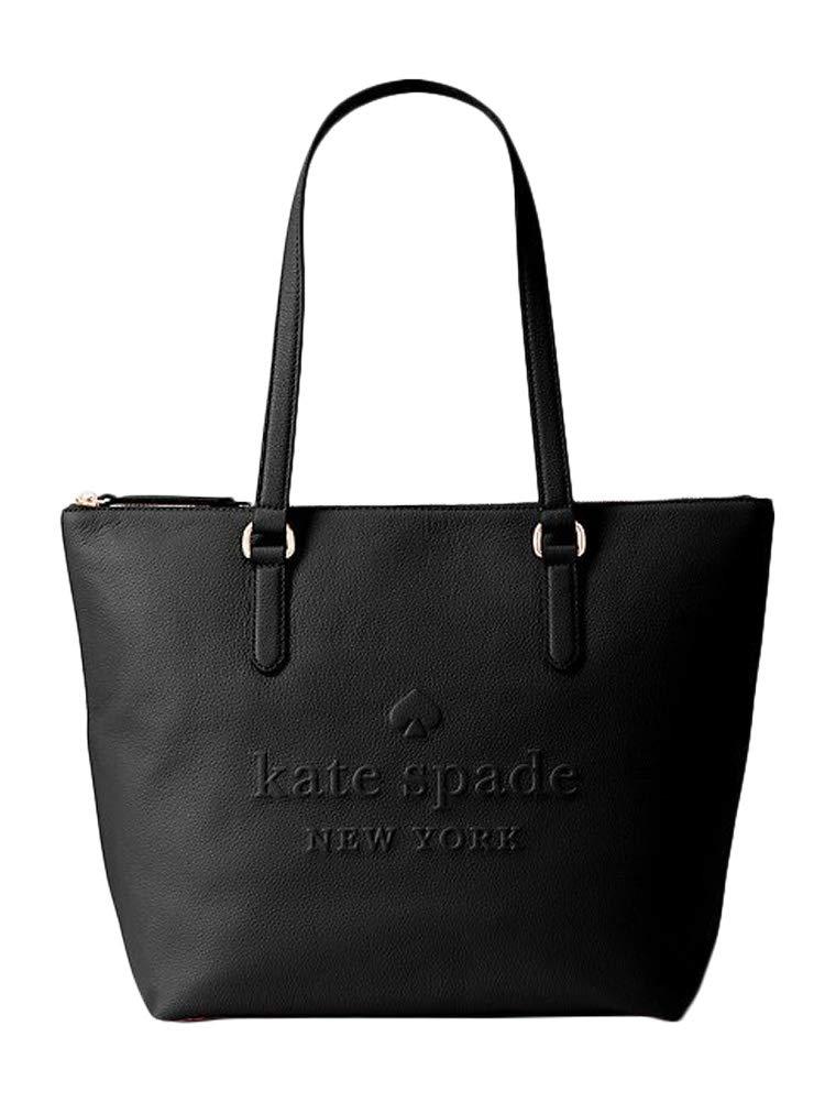 Kate Spade Larchmont Avenue Logo Penny Leather Women's Top Handle Handbag (Black)