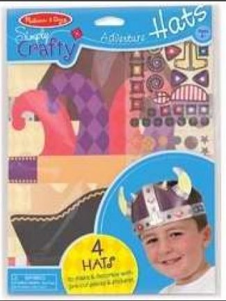 - Melissa & Doug Simply Crafty Adventure Hats Craft Kit: Pirate, Viking, Jester, and King