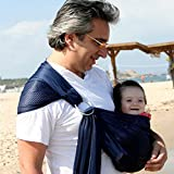 Mcupper-Breathable Baby Carrier with Polyester and Quickdry Fabrics Material,Swing Slings to New Baby Sling Product,indoor Outdoor Travel Cotton Comfort Safety For Newborn Infant Child (Dark Blue)