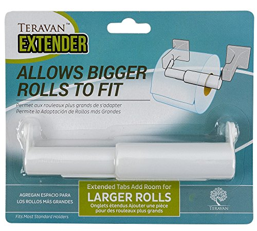 (Teravan Standard Extender for Larger Toilet Paper Rolls (White))