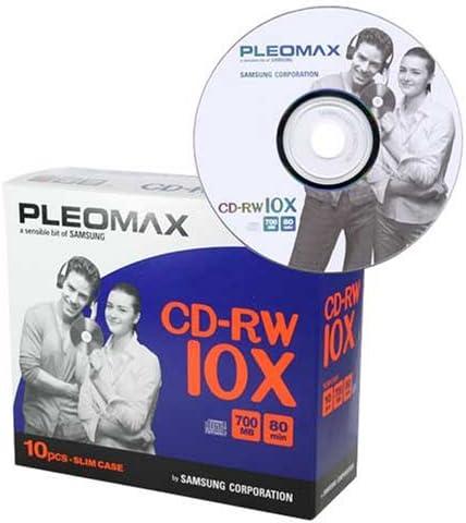 Samsung Pleomax CD-RW 700MB, Slim Jewel Case 10-PK - CD-RW ...