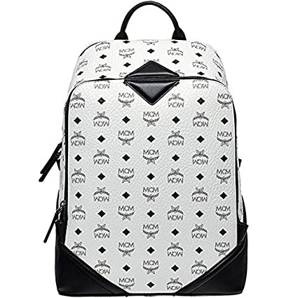 MCM White leather backpack: Amazon.co.uk: Shoes & Bags