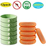 Gogogu 12 Pack of Natural Mosquito Repellent Bracelet - Natural Insect Bug Repellent Bands