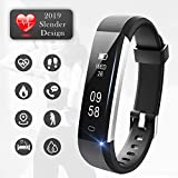 Lintelek Fitness Tracker with Heart Rate Monitor, Slim Pedometer Watch with Sleep Monitor, IP67 Waterproof Sports Activity Fitness Smart Watch for Women Men Kids