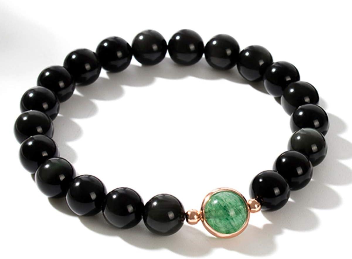 SUPVOX 65 piezas de cuentas de obsidiana negra natural de 4 mm piedras preciosas redondas cuentas sueltas redondas para hacer joyas collar de pulsera negro