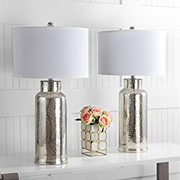 Fangio Lighting 5111 22 Quot Glass Amp Metal Table Lamp Silver