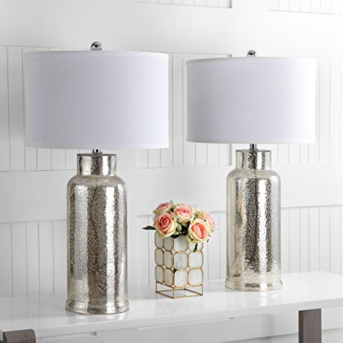 Safavieh Lighting Collection Bottle Glass Bronze 29-inch Table Lamp (Set of 2) (Bases Ideas Glass Table)