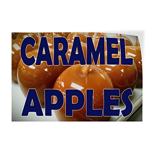 Decal Sticker Multiple Sizes Caramel Apples Brown Blue Food & Beverage Caramel Apples Outdoor Store Sign Brown - 48inx32in, Set of 2