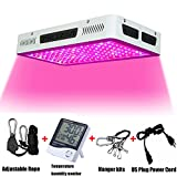 Phlizon Newest Winter 1200W High Power Series Plant LED Grow Light,with Thermometer Humidity Monitor,with Adjustable Rope,Double Chips Full Spectrum Grow Lamp for Indoor Plants Veg and Flower