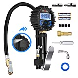 Digital Tire Pressure Gauge, Higoing Tire Pressure Monitoring System (0-200Psi/0-14Bar) Air Chuck and Compressor Accessories, Wheel Alignment & Balancing Tools 12 In 1 Set Car Tire Chucks For SUV, ATV