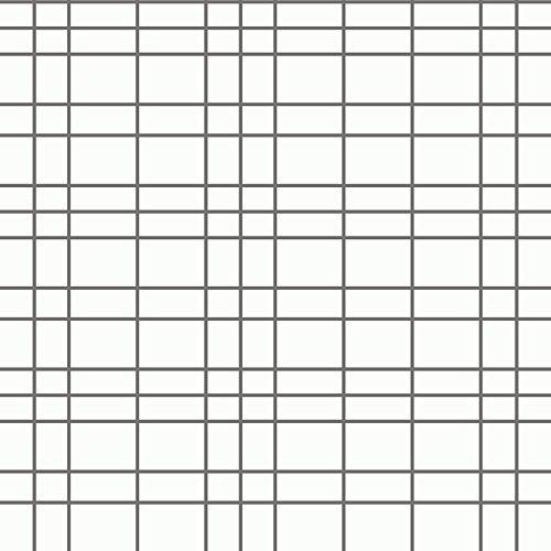 Eco Wallpaper WV6067 White Checkered Plaid Wallpaper