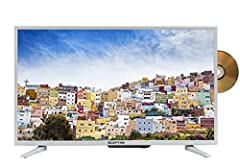 With the white E328WD-SR LED TV, razor-sharp clarity and dazzling color unfolds right before your eyes. The built-in DVD player is ready for use with just a few clicks and will save your spot on a DVD when you turn the TV off. Clear QAM tuner...