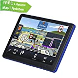 GPS Navigation for Car, ADiPROD 7 inches 8GB Lifetime Map Update Navigation System for Cars Touch Screen Vehicle GPS Navigator with Car Charger & Back Bracket & Mount, Truck Taxi Cab
