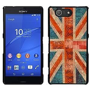 LECELL--Funda protectora / Cubierta / Piel For Sony Xperia Z3 Compact -- Inglaterra Gran Bretaña gb rústico Londres --