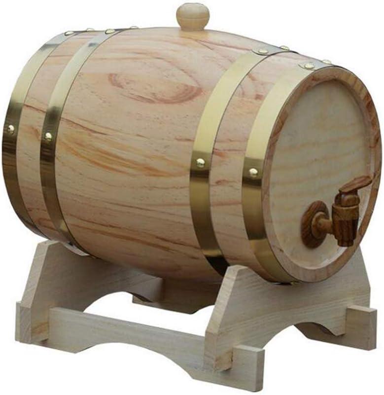 DPPAN 10L 木製 酒保存容器 ワイン樽 木製樽、レトロ ワイン貯蔵 保管 ワイン貯蔵 ワイン バーボン テキーラ ラム酒 お酒 ブランデー 港の,D