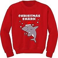 Sudadera para niños con diseño de tiburón navideño