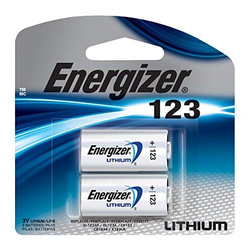 - Energizer 123 3V Lithium Battery, 2 Count