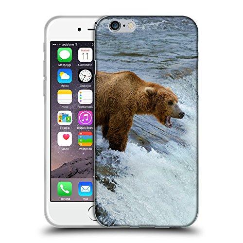 """Just Phone Cases Coque de Protection TPU Silicone Case pour // V00004092 Ours chasse dans la rivière de montagne // Apple iPhone 6 6S 6G PLUS 5.5"""""""