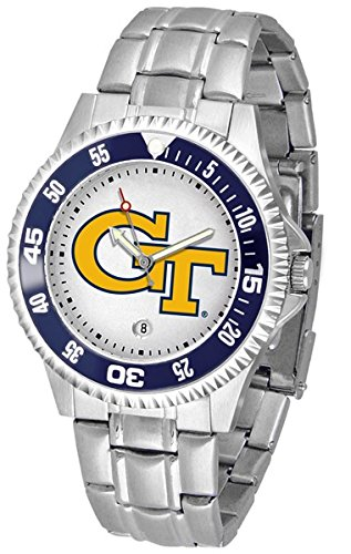 Georgia Tech Yellow Jackets Competitor Steel Men's Watch (Yellow Steel Jackets Watch Sport)