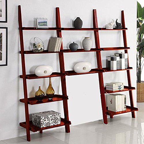 Cherry Leaning Ladder 3-piece Shelf by Martin Tools