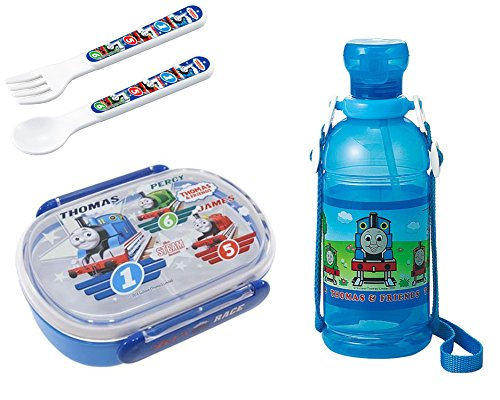 - Children's Water Bottle and Lunch (Bento) Box with Spoon and Fork - Everything Has Thomas and Friends Trains